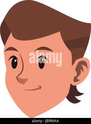 cool boy teenager character head image - Stock Photo