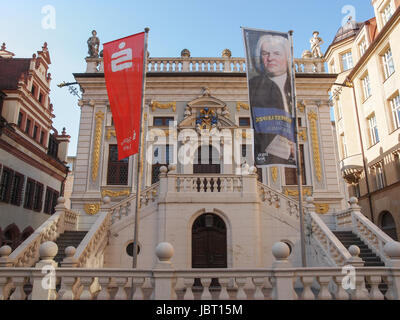 LEIPZIG, GERMANY - JUNE 12, 2014: The Alte Handelsboerse meaning Old Stock Exchange is one of the oldest baroque - Stock Photo