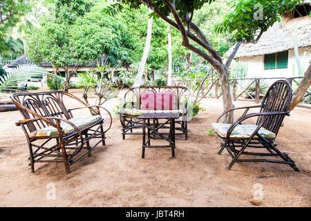 African Garden Furniture Kenya elegant furniture made of wood in an african garden stock elegant furniture made of wood in an african garden stock photo workwithnaturefo