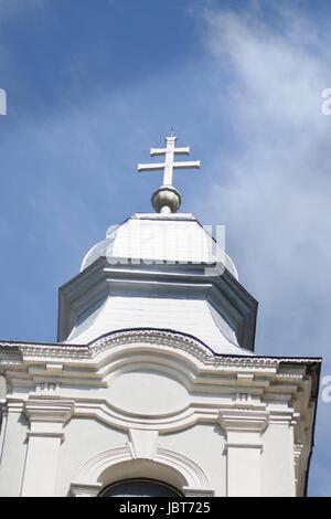 Holy Trinity church from Sumuleu Romania - Stock Photo