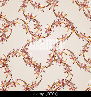 Curve patterns. Symmetry. Lines on the light background. - Stock Photo