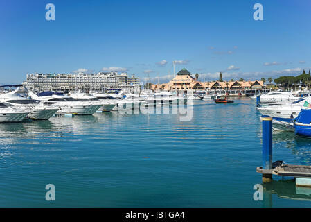 Europe, Portugal, Algarve, Vilamoura, Maritime, harbour, beach, sea, the Atlantic, Europa, Maritim, Hafen,  Strand, - Stock Photo