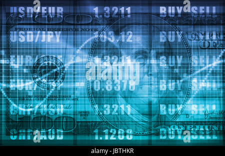 Foreign Exchange Online Buy Sell Screen Art - Stock Photo
