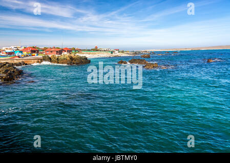 View of the Chilean coastline at Punta de Choros near La Serena - Stock Photo