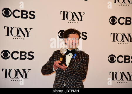 Bradley King with award for best lighting design for Natasha, Pierre & the Great Comet of 1812. The 71st Annual - Stock Photo