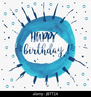 Happy Birthday card - vector illustration - Stock Photo