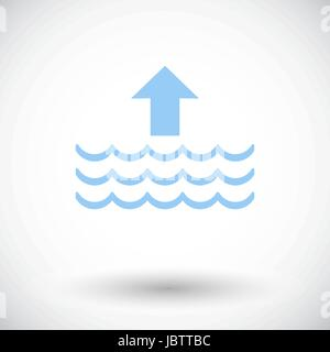 Edd. Single flat icon on white background. Vector illustration. - Stock Photo