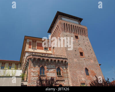 Torre Medievale medieval castle tower in Settimo Torinese near Turin - Stock Photo