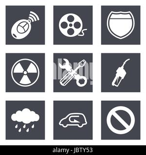 Icons for Web Design and Mobile Applications set 37. Vector illustration. - Stock Photo