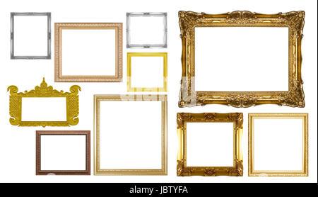 Set of vintage frames isolated on white Stock Photo: 167816527 - Alamy