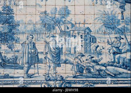 Da Sé Cathedral, Azulejos, Barredo district, Porto, Portugal, Unesco World Heritage Site - Stock Photo