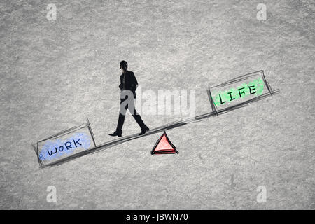 Balance concept about work and life. - Stock Photo
