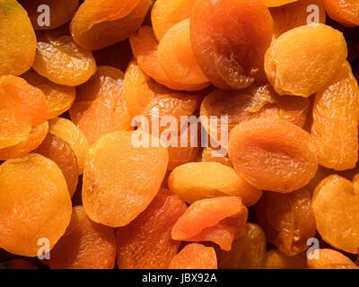 Dried organic apricots - Stock Photo