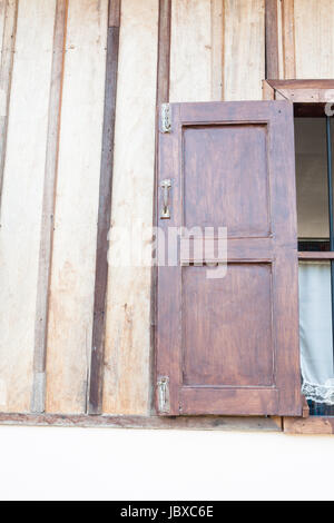 Vintage wooden window Thailand traditional style - Stock Photo