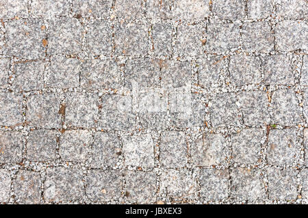 Gray sett bricks, texture or background, pavement. - Stock Photo