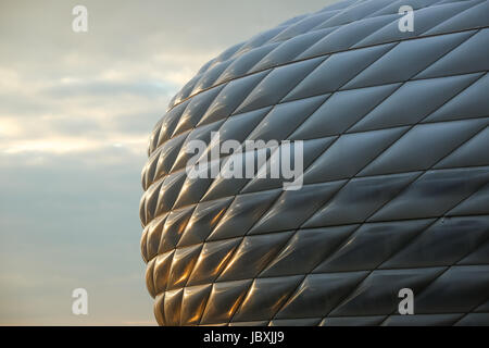 MUNICH, GERMANY - MAY 9, 2017 : An architectural detail of the Allianz Arena football stadium in Munich, Germany. - Stock Photo