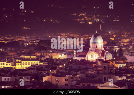 Great Synagogue of Florence - Stock Photo