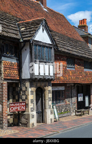 LEWES, UK - MAY 31ST 2017: The historic Anne of Cleves House in the town of Lewes in East Sussex, UK, on 31st May - Stock Photo