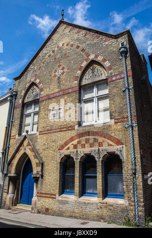 LEWES, UK - MAY 31ST 2017: The Freemasons Hall in the historic town of Lewes in East Sussex, UK, on 31st May 2017. - Stock Photo