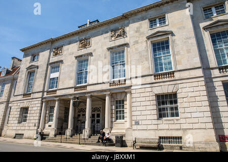 LEWES, UK - MAY 31ST 2017: A view of the exterior of County Hall in the town of Lewes in East Sussex, UK, on 31st - Stock Photo
