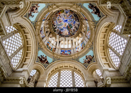 The domed roof at the Museu Nacional d'Art de Catalunya in Barcelona - Stock Photo