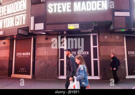 3bc31c049b4 The imminent home of a Steve Madden store in Times Square in New York on  Tuesday