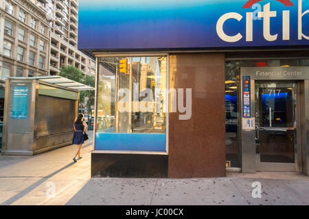 A branch of Citibank in the Chelsea neighborhhod in New York on Sunday, June 11, 2017. (© Richard B. Levine) - Stock Photo