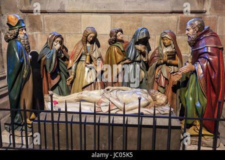 France, Allier (03), Moulins, la carhédrale, mise au tombeau // France, Allier, Moulins, the cathedral, entombment - Stock Photo