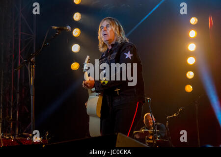 Mike Peters with The Alarm at The Isle of Wight Festival 2017 - Stock Photo