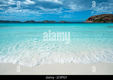 Rolling waves at Lucky Bay in Cape Le Grand National Park. - Stock Photo