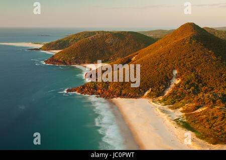 View of Zenith Beach from Tomaree Head. - Stock Photo