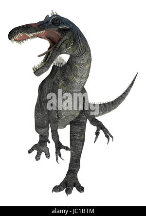3D digital render of a suchomimus tenerensis isolated on white background - Stock Photo