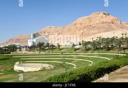 Israel, Dead Sea, resort Hotel area - Stock Photo