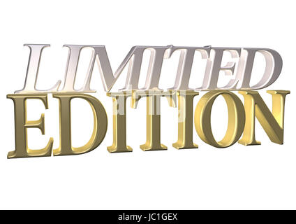 Glossy red three-dimensional inscription Limited Edition as a sign. - Stock Photo