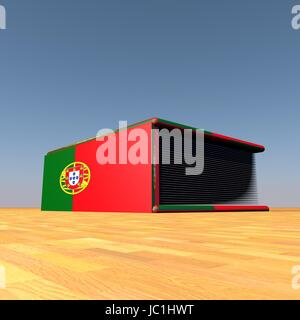 Book with Portuguese flag on cover, 3d render - Stock Photo