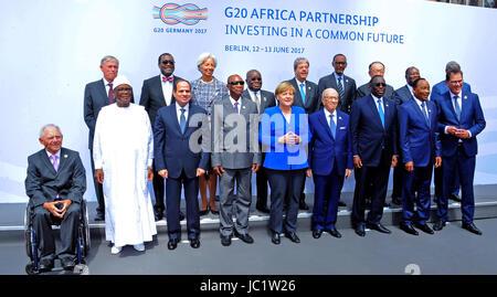 June 12, 2017 - Berlin, Berlin, Germany - (1st row L-R) Malian President Ibrahim Boubacar Keita,Egyptian President - Stock Photo
