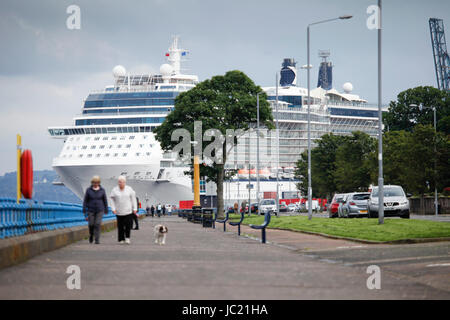 Greenock UK Th June Grey But Mild Day On The Firth Of - Cruise ships at greenock