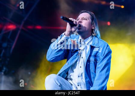 Belfast, Northern Ireland. 14 Jun 2017 - Arcade Fire play the Belsonic Music Festival - Stock Photo