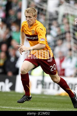JONATHAN PAGE MOTHERWELL FC FIR PARK MOTHERWELL SCOTLAND 29 August 2010 - Stock Photo