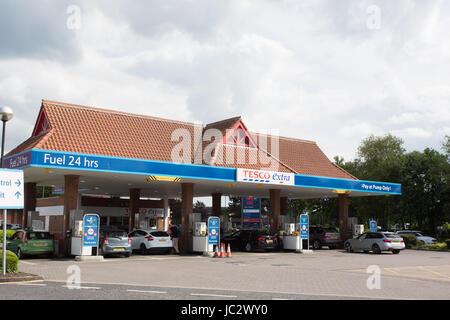 Tesco Petrol station - Stock Photo