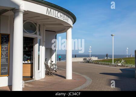 North Sea island, Norderney, East Frisia, Germany,  the Milchbar - milk bar, lounge, bar, restaurant, a trendy meeting - Stock Photo