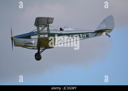 De Havilland DH 83 fox moth ZK AGM, light passenger bi plane. - Stock Photo