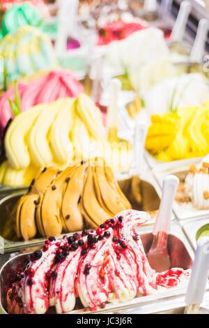 italian gelatto ice cream detail - Stock Photo