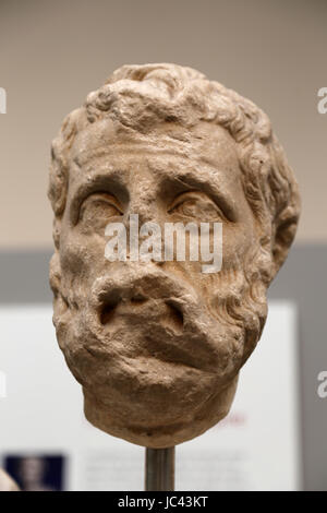 Herodes Atticus (101-177 AD). Greek aristocrat and sophist who served as a Roman Senator. Head from Alexandria, - Stock Photo