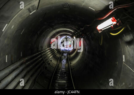 Emscher wastewater sewer, Emscher conversion, new sewer, tunnel drive, construction site, AKE, BA40, Oberhausen, - Stock Photo
