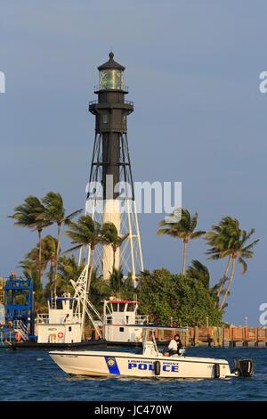 Hillsboro Lighthouse, Hillsboro Beach, Florida, USA - Stock Photo