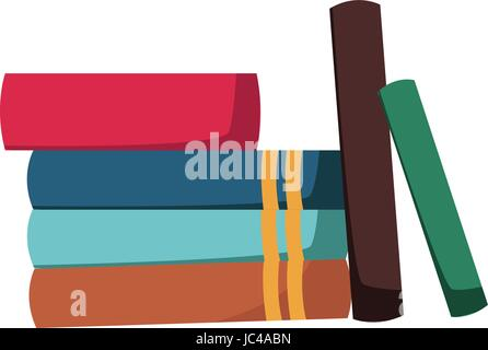 stack of books collection library image - Stock Photo