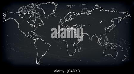 Vector blank dark grey black similar world map isolated on white vector blank dark grey black similar world map isolated on white background monochrome worldmap gumiabroncs Choice Image