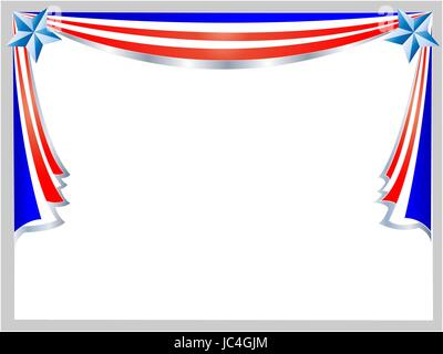 American flag frame corner with empty space for your text Stock ...