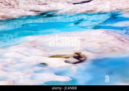Mount Shuksan Blue White Snowy Pool Abstract Summer Artist Point Mount Baker Highway Washington - Stock Photo